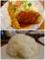 海老フライとビフカツ/大盛りライス