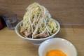 ラーメン豚入り(850円)ヤサイ+生玉子(50円)+ショウガ(50円)