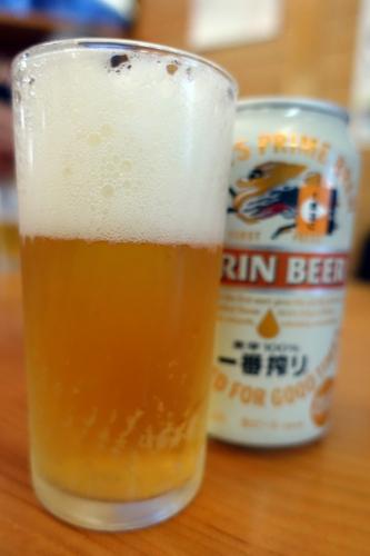 風呂上りの缶ビール