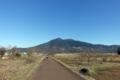 筑波山に向かって走る