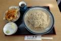 ランチ【桜川もりそば+かき揚げ丼】(950円)+蕎麦大盛(200円)