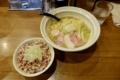 鶏そば(750円)+チャーシュー丼(ランチセット250円)