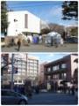 近所の大学のセンター試験の様子