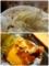 麺リフトとコロッケの断面