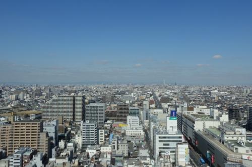展望室から大阪市内を望む