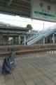 千倉駅で電車を待つ