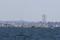 沖合のヨット・クルーザー