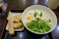 冷「大盛」とり天&ちくわ天 おろし醤油(590円)+温泉卵(60円)+ネギ増し(50