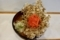 カレーそば(400円)+大盛(50円)+単品まいたけ天(170円)+セルフ紅生姜