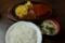 自家製ジャンボハンバーグ(1540円)+ライスおかわり自由・味噌汁つき(220