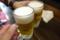 生ビールです乾杯