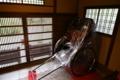 玄関の人力車
