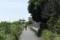 だんだん細くなる自転車道