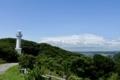 高台からみた太東埼灯台