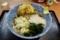 朝そば【野菜とイカげそ入り半かき揚げ・半熟卵・大盛無料】(400円)