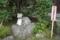 牛伏堂由来の石像