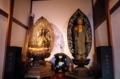 経蔵内の聖観音と阿弥陀如来
