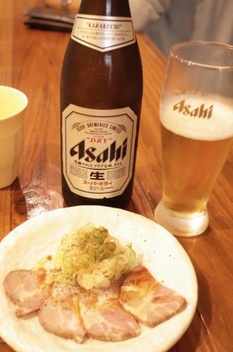 ビールとおつまみチャーシュー