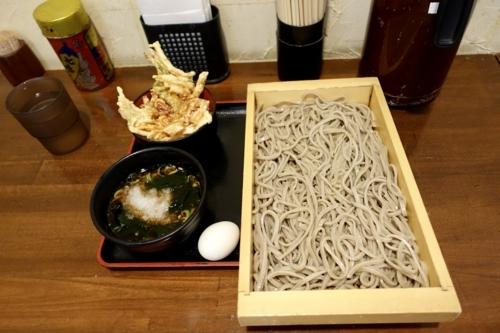 匠の乱切りそば(580円)+ミニ天丼(300円)