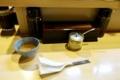 麦茶とスプーン