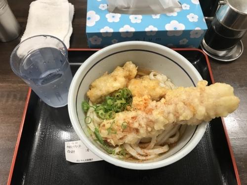 冷「並盛」とり天&ちくわ天 ぶっかけ(490円)