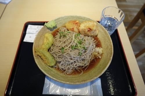 冷たいアボカド天&トマト天そば(860円)+大盛り(120円)