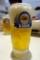 生ビール(496円)で長男と乾杯