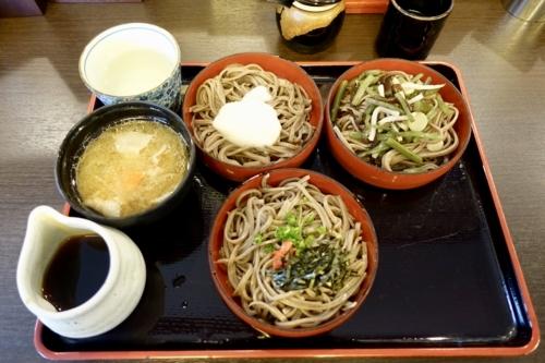 三食割子そば(1000円)ー10%割引キャンペーン(-100円)