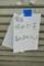 臨休の貼紙