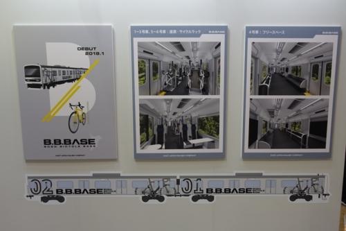 B.B.BASEのパネル展示