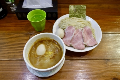 豚つけ麺【?盛?トッピング】(?円)。