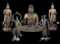 阿弥陀如来坐像・両脇侍立像、不動明王立像、毘沙門天立像
