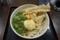 冷「大盛」とり天&ちく天ぶっかけ(590円)+半熟卵天(90円)+ネギ増(50円)