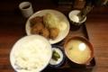 カキフライ定食(980円)