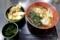 中華そばセット【ミニとり舞茸天丼】(650円)+わかめ無料券