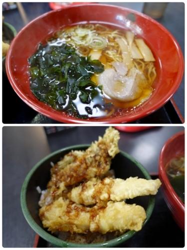 中華そばとミニとり舞茸天丼