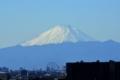 マンションの最上階から観た富士山