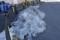 駅前に大量に残る雪