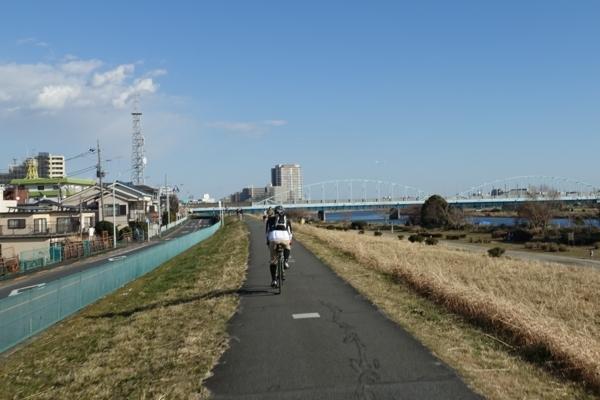 多摩川大橋が見える