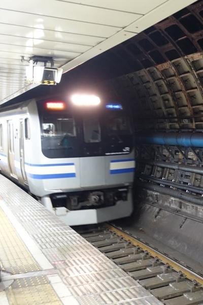 新橋で横須賀・総武快速線へ乗り換える