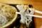 地粉蕎麦を鯖出汁で手繰る