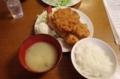 A定食(1600円)えびフライ1本と国産ヒレカツ3枚