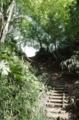 階段を上がり城の上へ