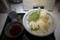 かしわ天つけうどん〈冷〉(1000円)【鶏天3ヶ・野菜3種】