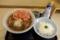 Aセット【とろろご飯とかけそば】(500円)+大盛【1.5倍】+紅生姜天(120円)