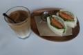 埼玉産ポークバジルサンド【柔らかいパン】(700円)+アイスカフェオレ(50