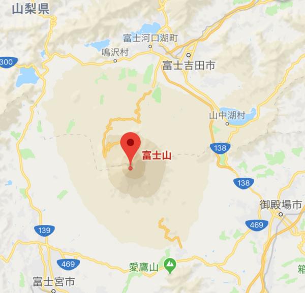 富士山の地図