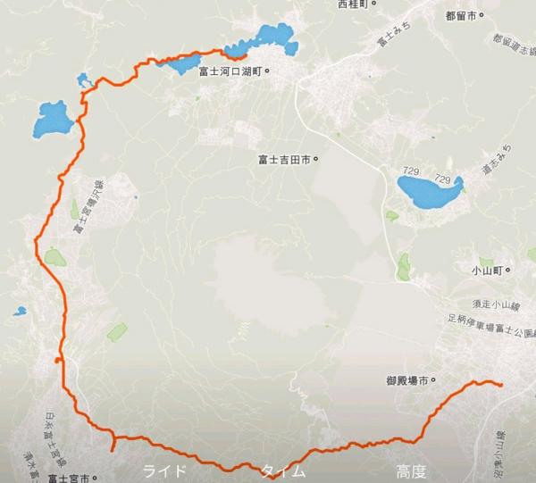 富士山一周サイクリング 二日目