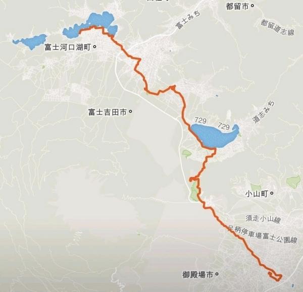 富士山一周サイクリング 初日
