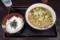 山かけ丼セット【温たぬきそば】(490円)